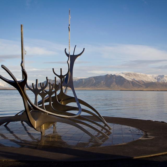 solfar - sun voyager metal sculpture reykjavik